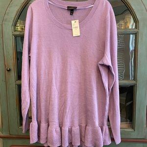 NWT Lane Bryant Sweater with ruffle bottom